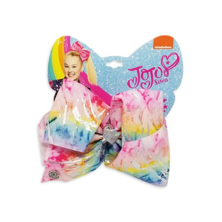 JoJo Siwa Large Cheer Hair Bow (Rainbow Paint)