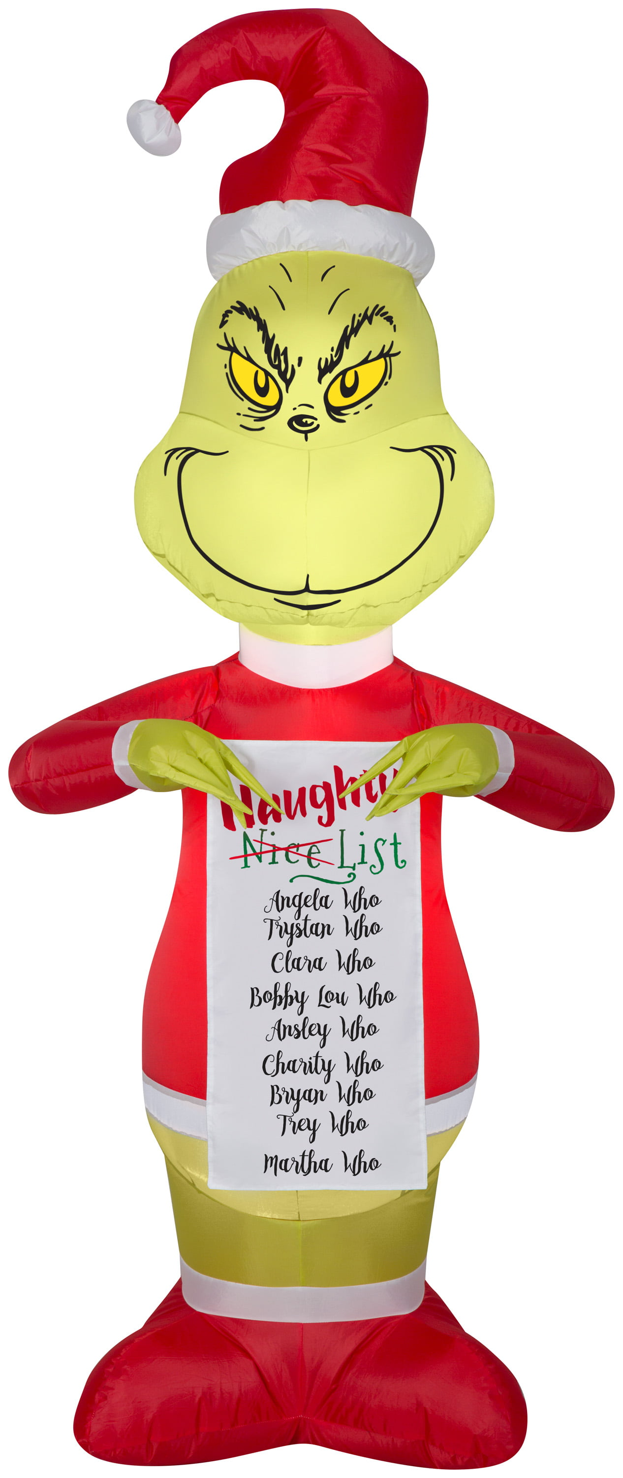 """The Grinch Inflatable 5/'5/"""" in Santa suit /& Gift Dr Seuss LED Chrismas Airblown"""