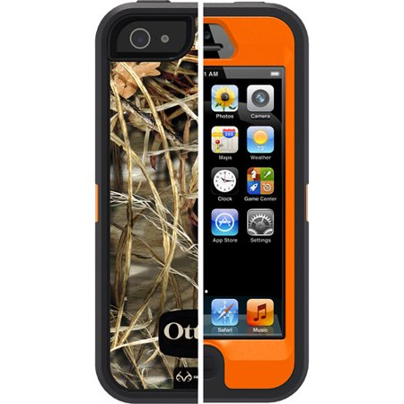 iPhone 5 Otterbox defender case, realtree camo max 4hd blazed (Wood Tree Iphone 5 Case)