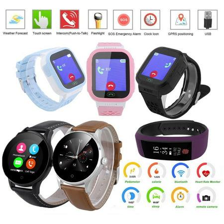 0f978537da0 Kids Waterproof Smart Watch Phone Boys Girls - GPS Locator Pedometer  Fitness Tracker Smartwatch with 2 Way Call SOS ...