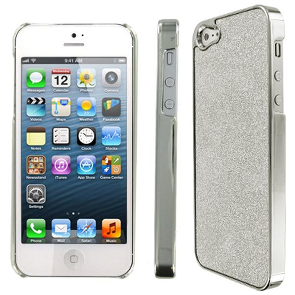 iPhone SE 5S Case, Glitter EMPIRE Silver Sparkling Glitter Slim-Fit Glam Case for Apple iPhone SE 5 / 5S