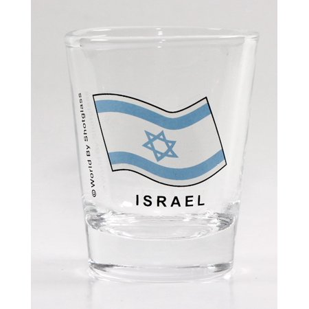 Israel Flag Shot Glass (Israel Fused Glass)