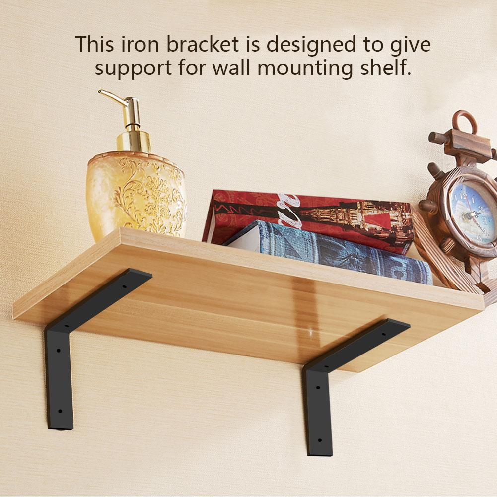 Knifun 1 Pair Iron Heavy Duty Shelf Wall Brackets for ...
