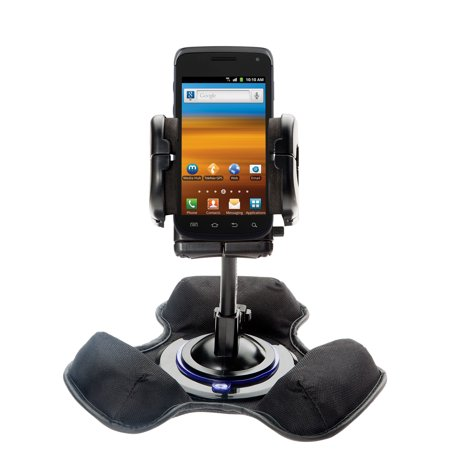 Exhibit System - Car / Truck Vehicle Holder Mounting System for Samsung Exhibit 4G Includes Unique Flexible Windshield Suction and Universal Dashboard Mount Options