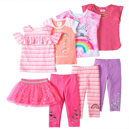 Girls' Kid-Pack Mix and Match Outfits 8-Piece Set for $<!---->