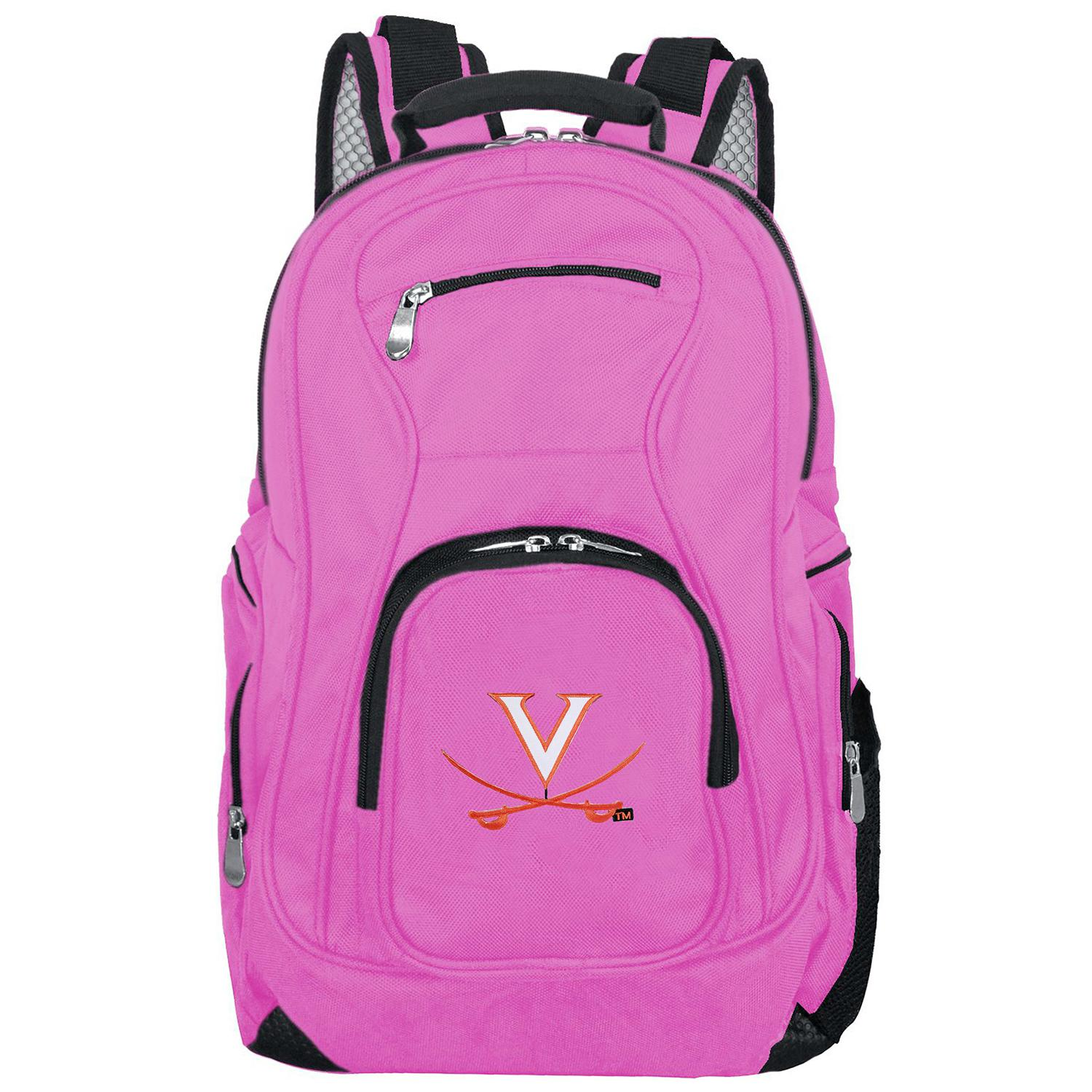 NCAA Virginia Cavaliers Pink Premium Laptop Backpack