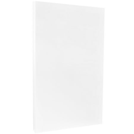 JAM Paper Legal Size Paper 2 Sided Glossy Paper, 8.5 x 14 32 lb White Recycled, 100 Sheets/pack