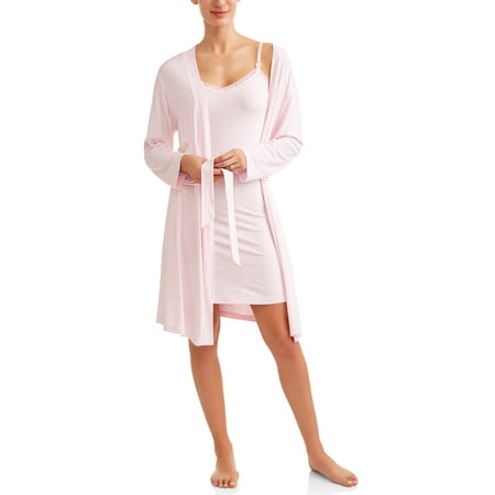 Nurture by Lamaze Maternity 2-Piece Nursing Chemise and Robe Set -- Available in Plus Sizes - Nursing Costumes