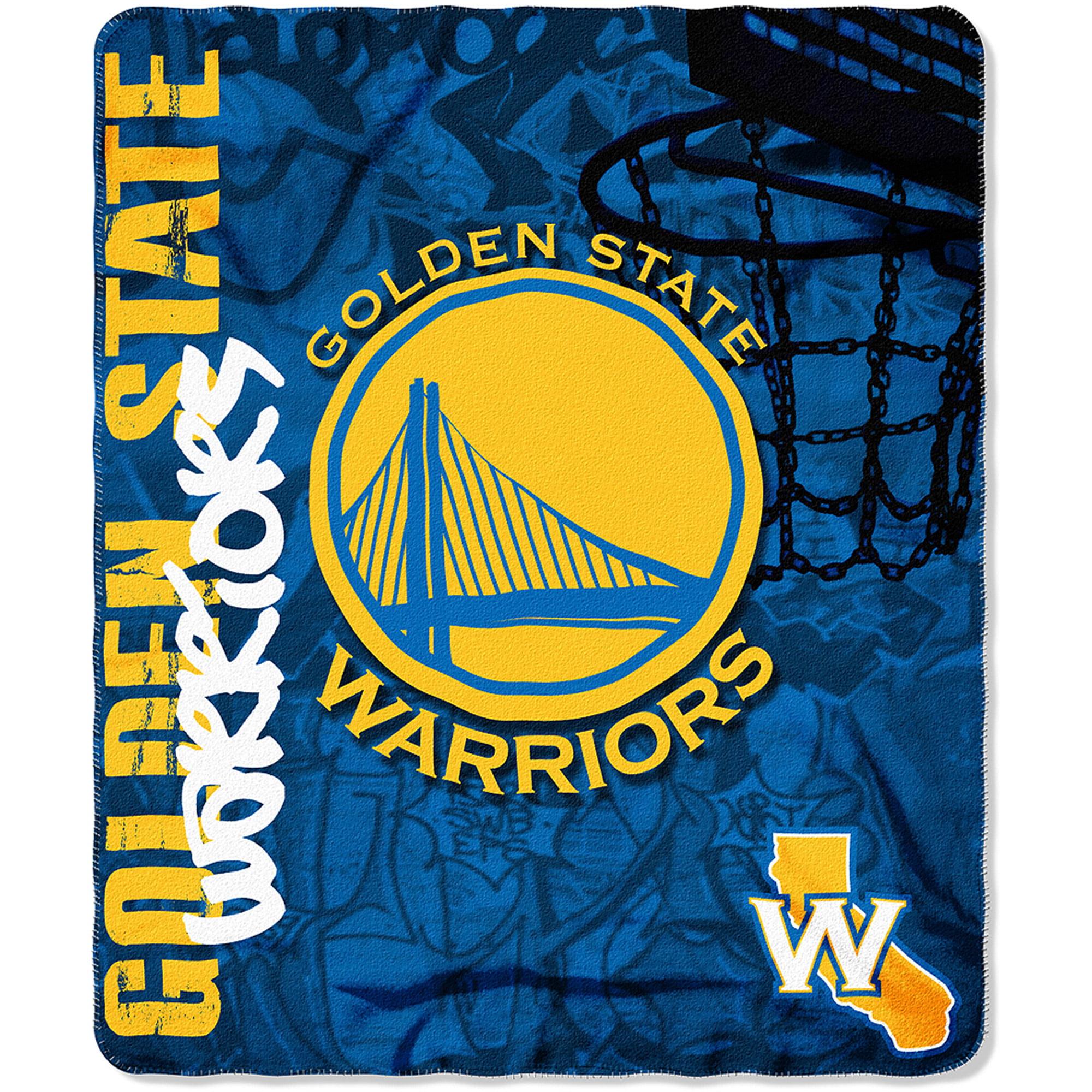 """NBA Golden State Warriors 50"""" x 60"""" Fleece Throw 630659"""