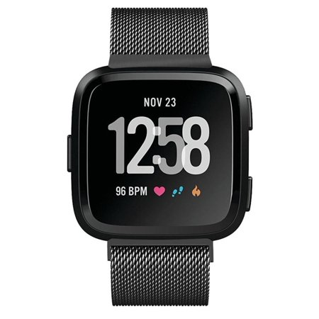 Fitbit Versa Bands for Women Men , Mignova Milanese Loop Stainless Steel Metal Replacement Bracelet Strap with Unique Magnet Lock Accessories Wristbands for Fitbit Versa Fitness Smart Watch -