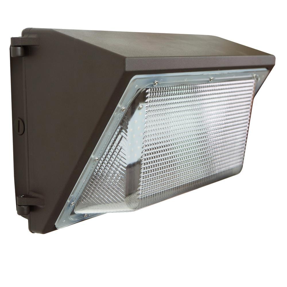 J&H LED 100W Wallpack 100 Watt Bronze Outdoor Integrated Industrial-Grade LED Wall Pack Light
