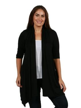 97aac128d9 Product Image 24/7 Comfort Apparel Superstar Plus Size Cardigan Shrug