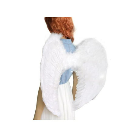 Halloween Costumes Devil And Angel (VICOODA Kids Angel Devil Fairy Feather Wings Fancy Dressing Costume Fairy Stage Party Event Supplies Outfits for Kids and)