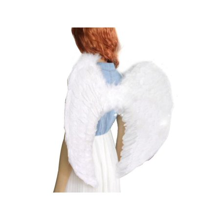 VICOODA Kids Angel Devil Fairy Feather Wings Fancy Dressing Costume Fairy Stage Party Event Supplies Outfits for Kids and Adults](Angel And Devil Halloween Costumes For Adults)