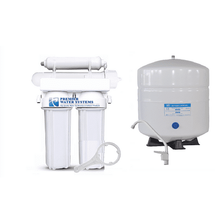 4 Stage: Complete Home Reverse Osmosis Drinking Water Filtration System 150 GPD Pure Drinking Water Systems