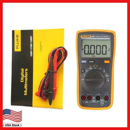 New FLUKE 15B+ F15B+ Digital Multimeter Meter Auto Range AC DC Voltage Current