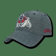 NCAA Fresno State University Bulldogs Structured Denim Baseball Caps Hats Blue