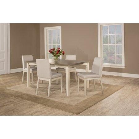 Hillsdale, LLC Havenside Home Santa Barbra 5-piece White Rectangle Dining Set
