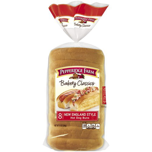 Pepperidge Farm Bakery Classics New England Style Hot Dog Buns 8 Count 12 Oz Walmart Com Walmart Com