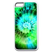 Blue and Green Tie Dye Design White Rubber Case for the Apple iPhone 6 Plus / iPhone 6s Plus - Apple iPhone 6 Plus Accessories -iPhone 6s Plus Accessories