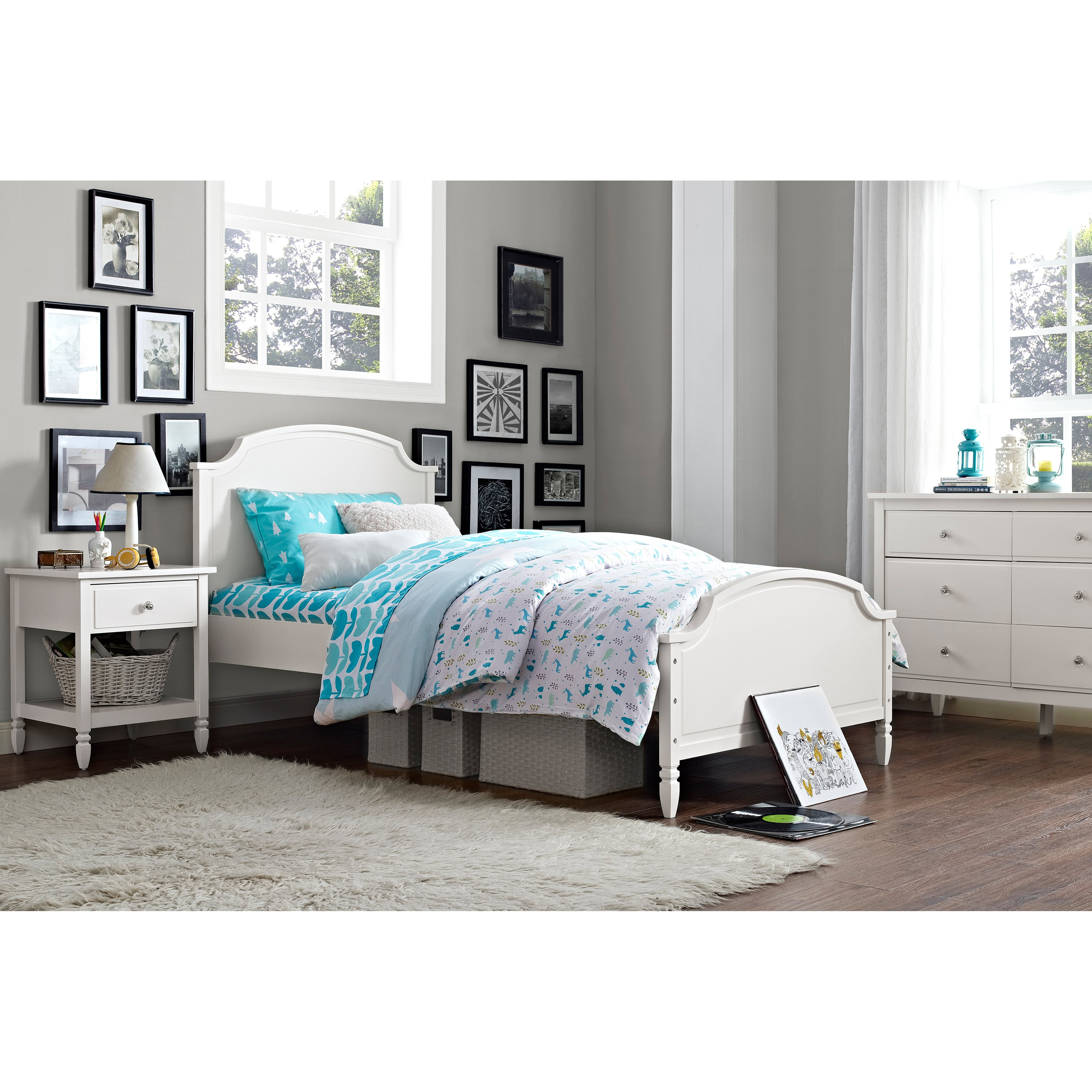 dorel asia Dorel Living Vivienne White Trundle