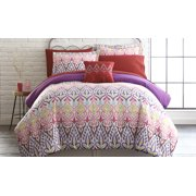 6 Piece Printed Reversible Complete Bed Set Tribal Ikat - Twin