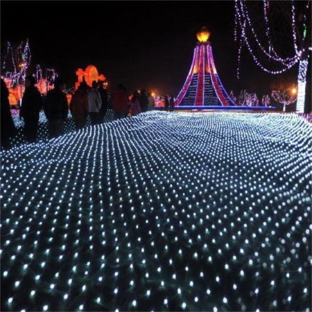 Yosoo 8 Modes 3M 210 LED Waterproof Twinkle Indoor Outdoor Net Mesh Fairy String Lights for Wedding Christmas Festival Party Decor ()