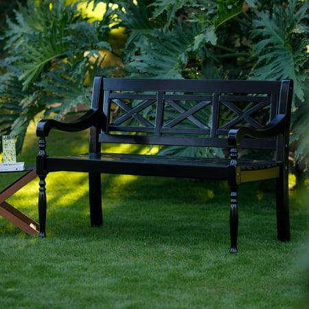 Astounding Belham Living Holland X Back Outdoor Bench Ibusinesslaw Wood Chair Design Ideas Ibusinesslaworg