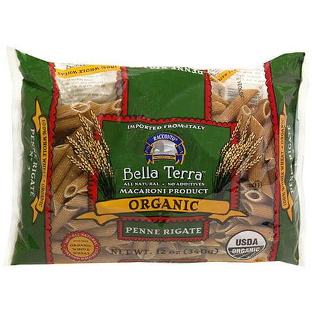 Bella Terra Organic Penne Rigate Pasta, 12 oz (Pack of 12) Vegetarian Penne Pasta
