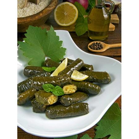 Stuffed Vine Leaves, Dolmades, Arabic Countries, Arabic Cooking, Greek Food, Turkish Food Print Wall Art By Nico - Turkey Point