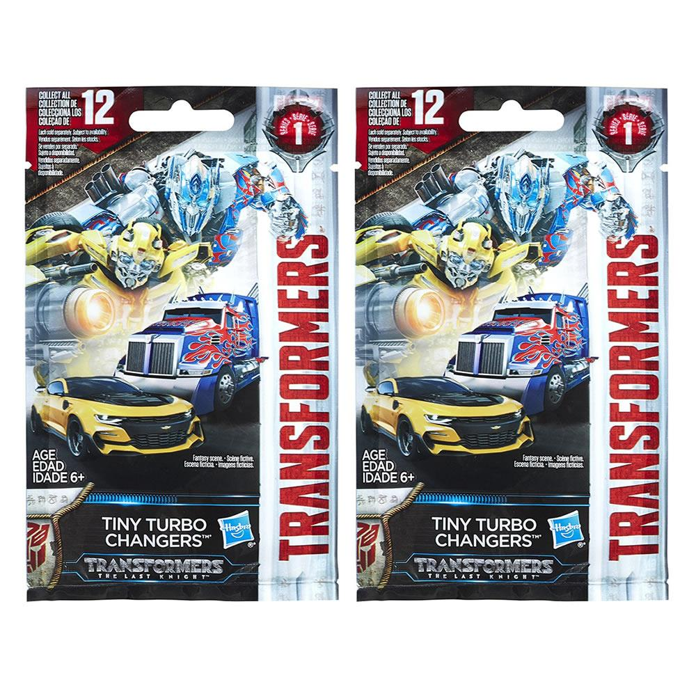 Transformers Tiny Turbo Changers Blind 2PK Bags The Last Knight Robot Figures Hasbro by Hasbro