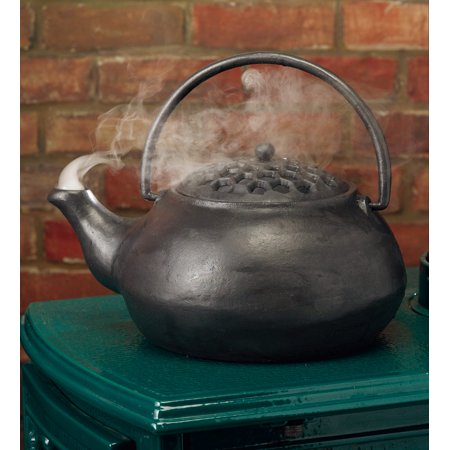 Cast Iron Wood Stove Steamer Kettle / Humidifier with 3 Quart Capacity,