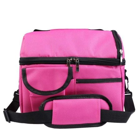 Insulated Lunch Bag With Adjustable Shoulder Strap Double