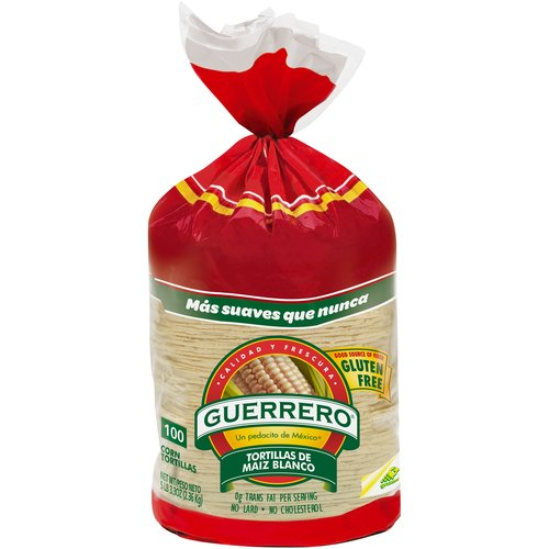 Guerrero White Corn Tortillas, 100 ct