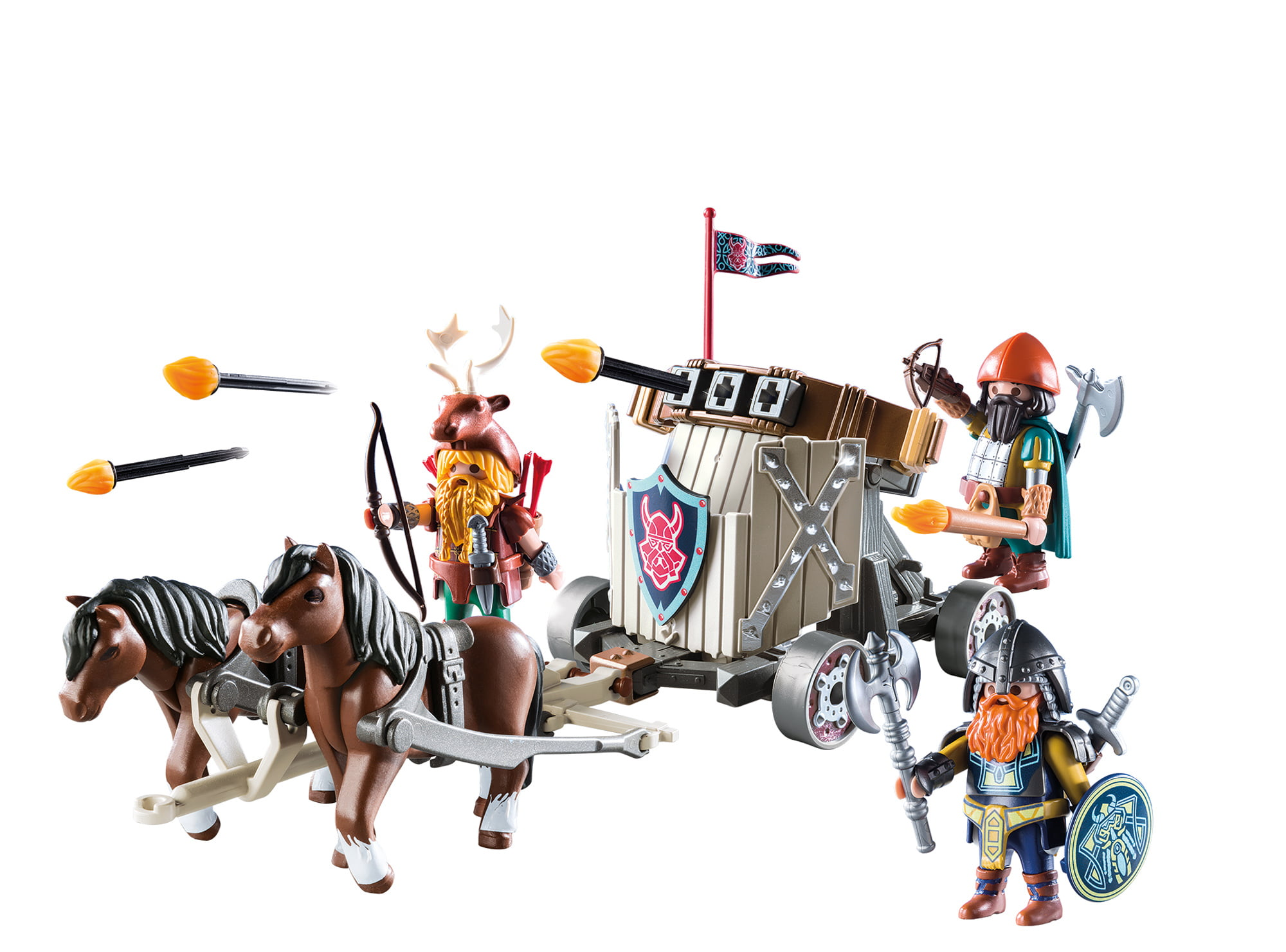 Mint New! Playmobil Horse with Harnesses for Car or Carriage