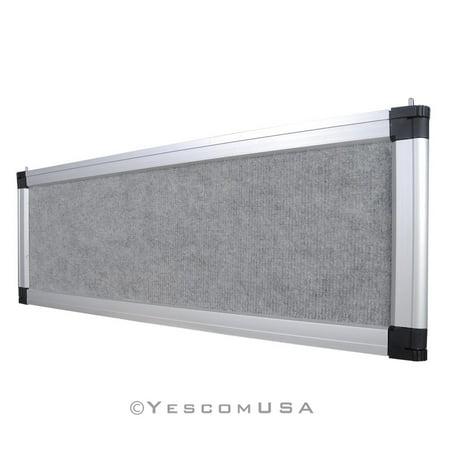 Gray Trade Show Display System Optional Header Panel Board Aluminum Frame Logo Display Header Panel
