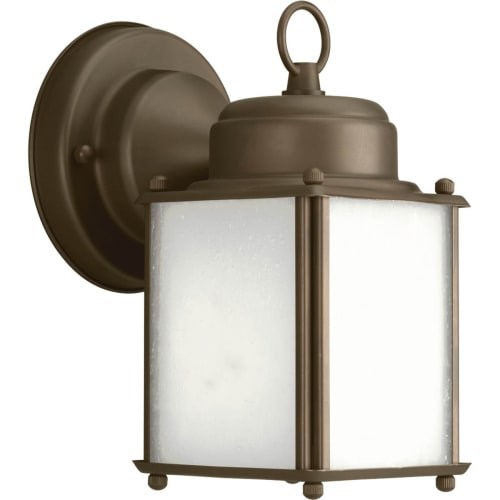 """Progress Lighting P5986 Roman Coach 1 Light 9"""" Tall Outdoor Wall Sconce with Etched Glass Panels"""