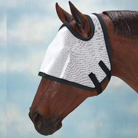 TOUGH1 FLY BONNET MASK WITHOUT EARS YEARLING/PONY WESTERN HORSE TACK GROOMING