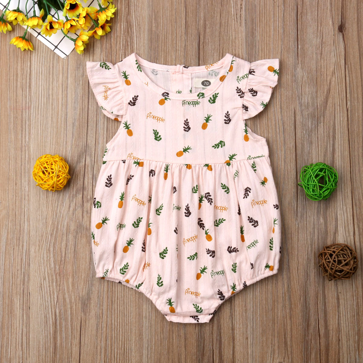 Baby Onesies The Cut Fruit of Pineapple 100/% Cotton Baby Jumpsuit Super Power Short Sleeve Bodysuit