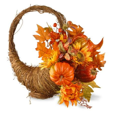 """22"""" Autumn Cornucopia Basket - Cornucopia Baskets"""