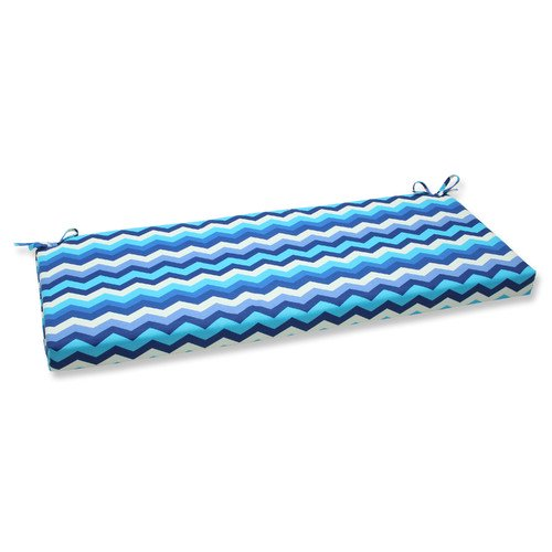 Pillow Perfect Outdoor Indoor Panama Wave Azure Bench Cushion Walmart Com Walmart Com
