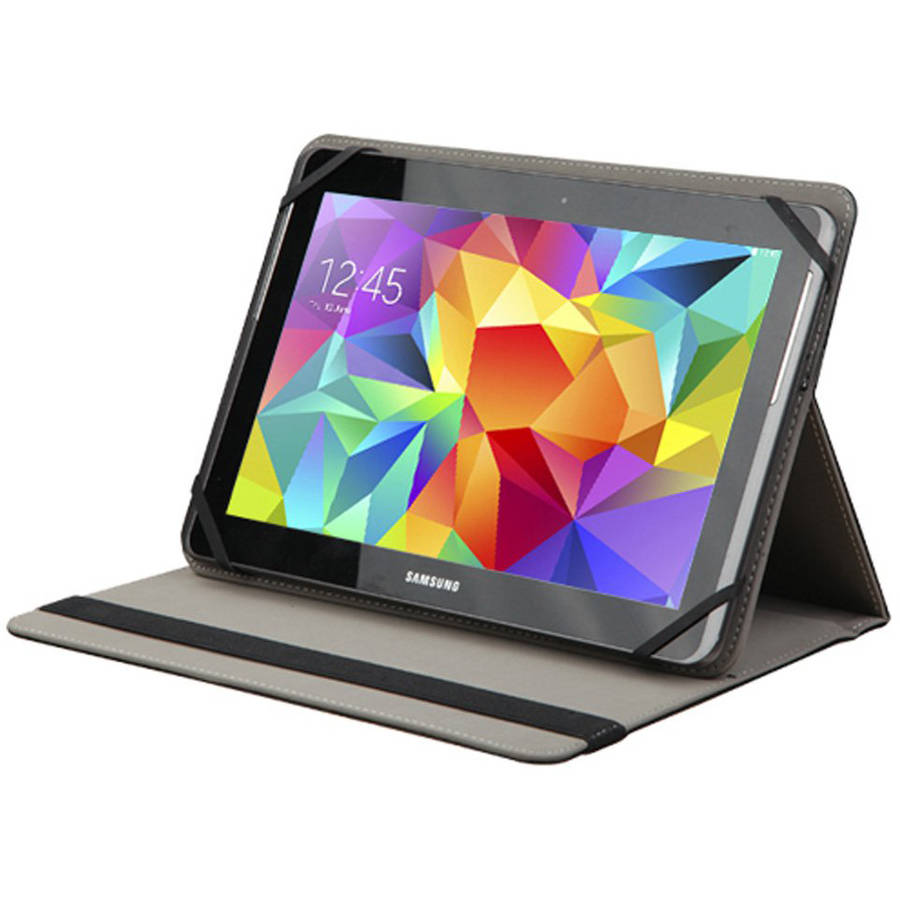"AMZER Universal Adjustable Tablet Leather Flip Folio Stand Case, 9-10"""