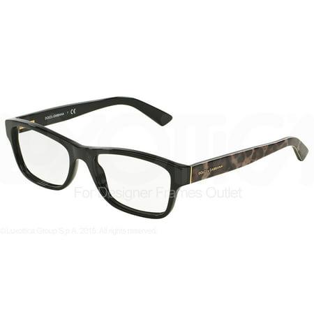 DOLCE & GABBANA Eyeglasses DG 3208 2525 Black (Dolce Glasses Frames)