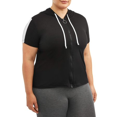 Eye Candy Women's Plus Size Active Short Sleeve Hoodie