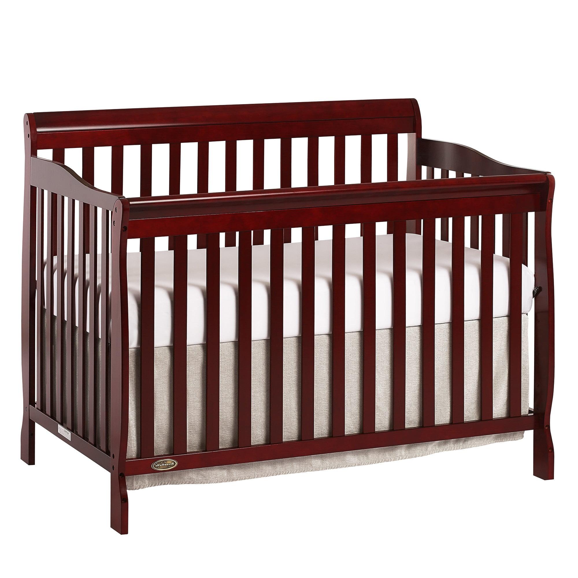 Dream On Me Ashton 5-in-1 Convertible Crib, Cherry