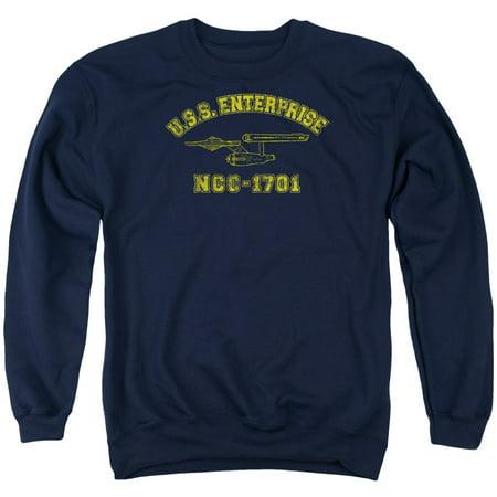 STAR TREK - Star Trek Enterprise Athletic Mens Crew Neck Sweatshirt -  Walmart.com 06c436d955b