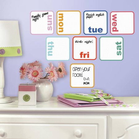 RoomMates Days of the Week Planner Dry Erase Peel and Stick Wall Decals