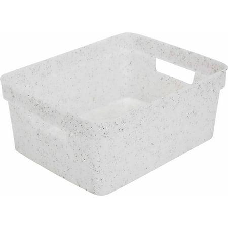 Simplify Granite Look Resin Storage Bin (Granite Top Storage)