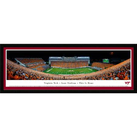 Virginia Tech Hokies Night Football - Blakeway Panoramas NCAA College Print with Select Frame and Single Mat