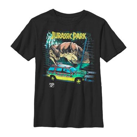 Cute Scene Boy (Jurassic Park Boys' Car Chase Scene)